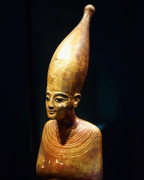 Statue Closeup from King Tut: Treasures of the Golden Pharaoh via My Instagram