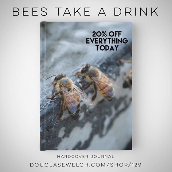 "Start A New Beekeeping/Garden Journal these ""Bees Take A Drink"" Hardcover Journals and Much More!"