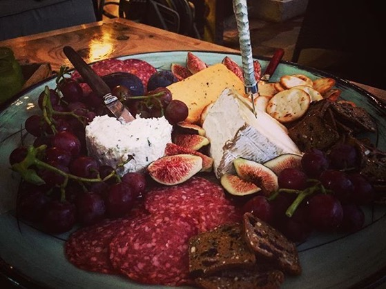 Amazing cheese and appetizer plate at last night's birthday party for a friend.  via Instagram