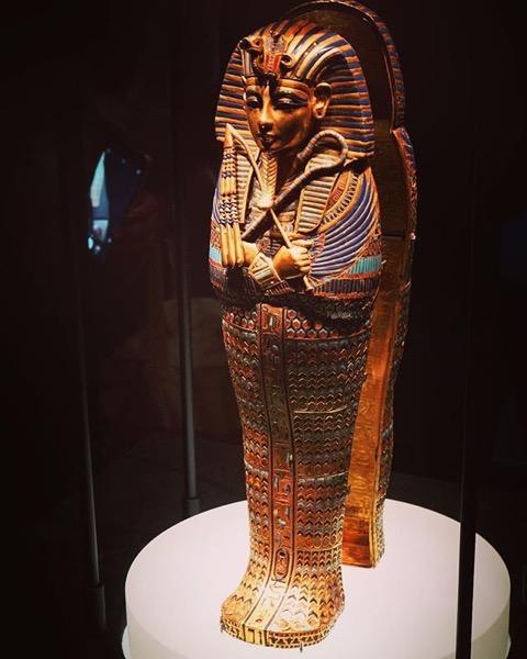 Statue from King Tut: Treasures of the Golden Pharaoh Exhibit via Instagram