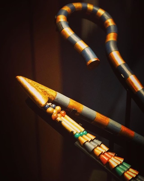 Crook and Flail Closeup via Instagram