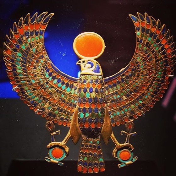 Horus/Ra-Horakhty Jewel - King Tut: Treasures of the Golden Pharaoh via My Instagram