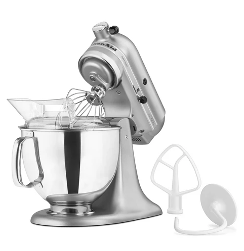 On Sale $229 (orig. $380) KitchenAid Artisan Series 5qt Tilt-Head Stand Mixer Silver - KSM150PSSM