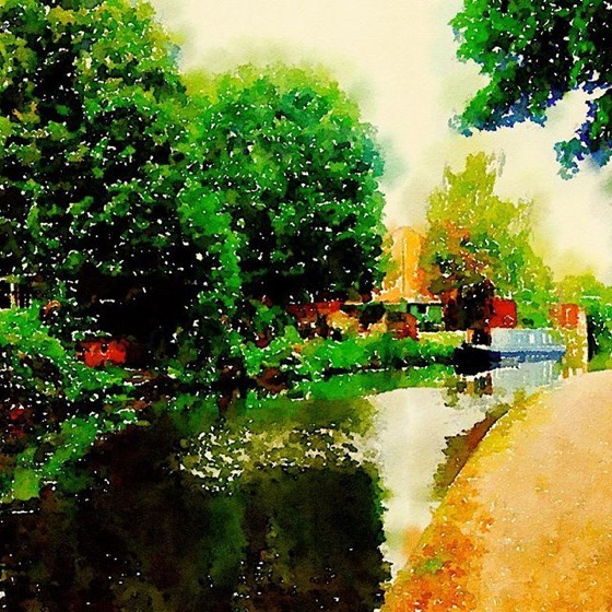 By the canal…Nottingham in Watercolor via Instagram