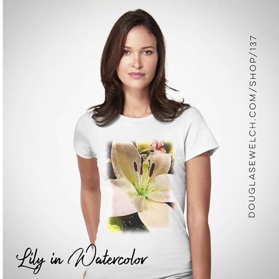 Lily Flower in Watercolor Tees, Hoodies and Much More!