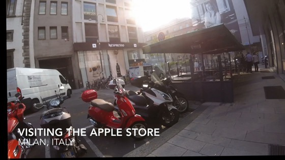 Happening upon the Apple Store, Piazza of Libarty, Milano, Italy [Video] (4:16)