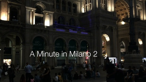 A Minute in Milano 2 - Piazza del Duomo at Night