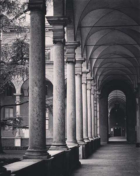Interior Courtyard, Catholic University of the Sacred Heart Università Cattolica del Sacro Cuore - Location of the SRN Conference via Instagram