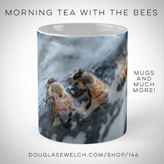 Sip your morning tea with the bees on this lovely mug and much more! - 20% OFF Everything Today, Too!