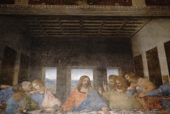 Detail The Last Supper L Ultima Cena Santa Maria delle Grazie MIlano Italy