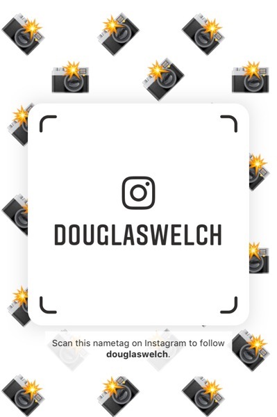 Scan this name tag to add me on Instagram