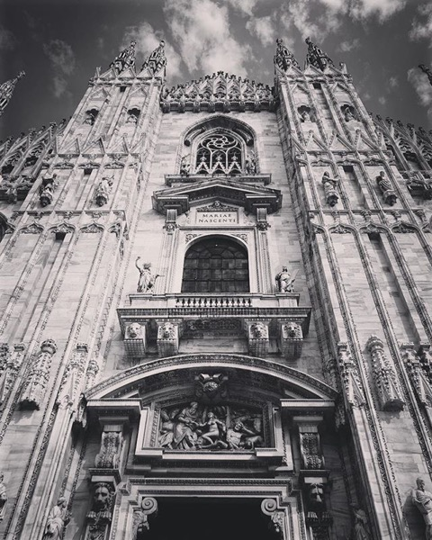 Duomo di Milano, Milano, Italy in Black and White via Instagram