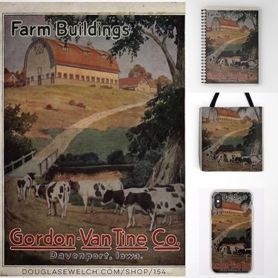 Remember When With These Vintage Farm Buildings! - iPhone Cases, Pillows, Totes, And Much More!
