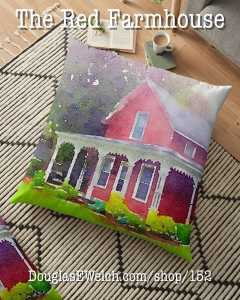 NEW PRODUCTS - Visit the Country With This Red Farmhouse Floor Pillow And Much More!