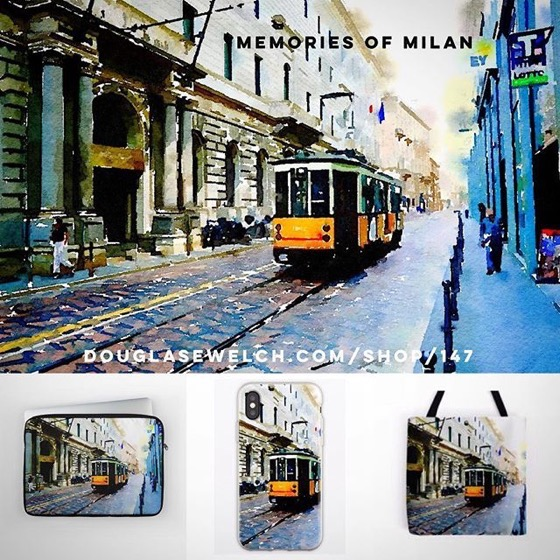 NEW DESIGN – Memories of Milan on iPhone Cases, Totes, Laptop Sleeves and Much More!