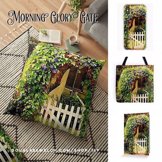 Go Down The Garden Path and Through The Morning Glory Gate with These Pillows, Totes And iPhone Cases