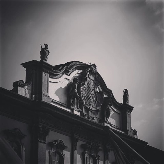 Crest atop Palazzo Litta, Milan, Italy via Instagram