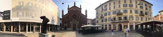 Panorama Piazza Carmine Milano Italy  1