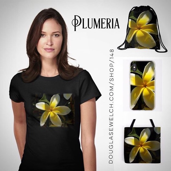 You Can Almost Smell The Plumeria Flowers On These Tees, Totes And iPhone Cases