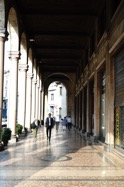 Along the street Milano Italy