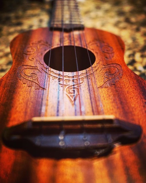 Another carved ukulele from a friend's collection via Instagram