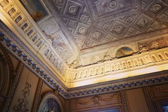Decorative Ceiling, Villa Reale, Monza, Italy via Instagram