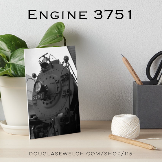 Engine 3751 Art Boards, Prints and More! from Douglas E. Welch