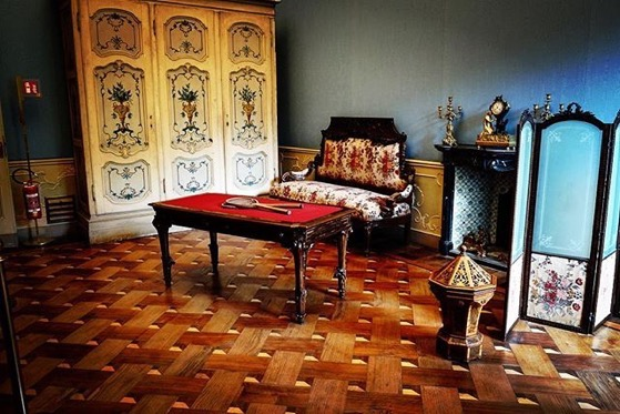 Queen's Drawing Room, Interior, Villa Reale, Monza, Italy via Instagram