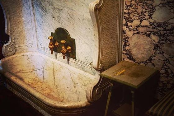 The King's Bath, Interior, Villa Reale, Monza, Italy via Instagram