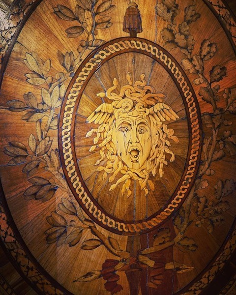 Medusa Marquetry Screen via Instagram
