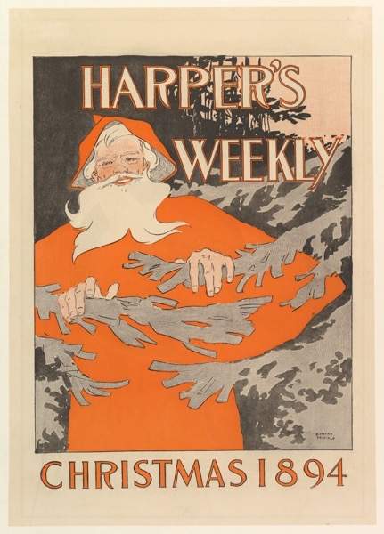 Harper's Weekly Christmas Cover 1894