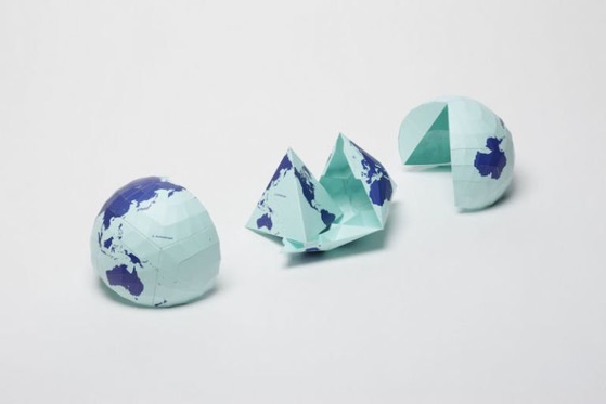 This Bizarre World Map Is So Crazily Accurate, It Actually Folds Into a Globe via ScienceAlert