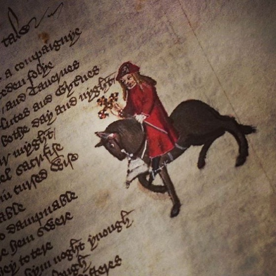 The Canterbury Tales, Figure and Text via Instagram