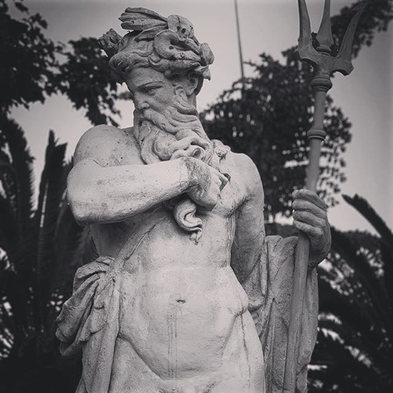 Poseidon/Neptune Sculpture, Huntington Library, Art Collections and Botanic Gardens, San Marino, California via Instagram