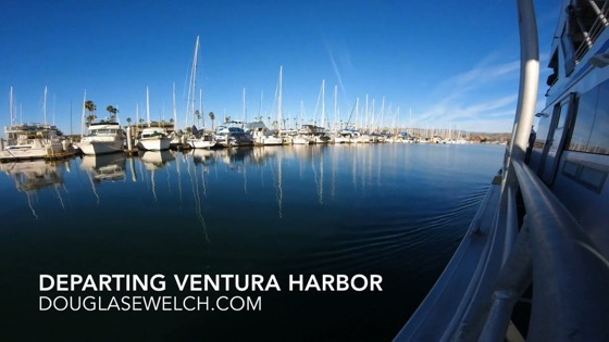 Departing Ventura Harbor Time Lapse - December 26, 2018
