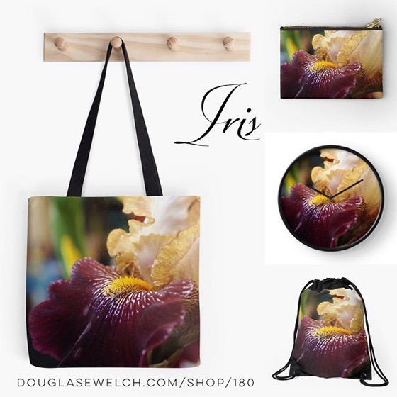 Delve Into This Abstract Iris Photo And Get It On Bags, Clocks, iPhone Cases, Totes And More!