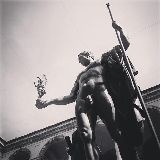 Napoleon as a Greek god, Pinacoteca di Brera, Milano, Italia via Instagram