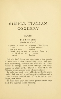 Historical Cooking Books: Simple Italian cookery (192) by Mabel Earl McGinnis - 24 in a series