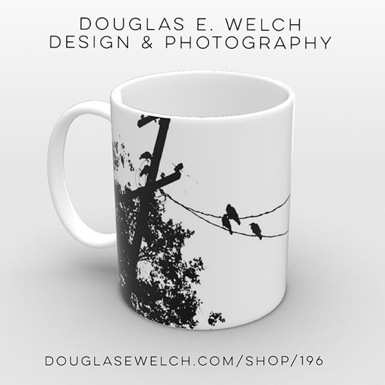 Get These Crows On A Wire on Mugs, Phone Cases, Totes, Notebooks and More! [For Sale]