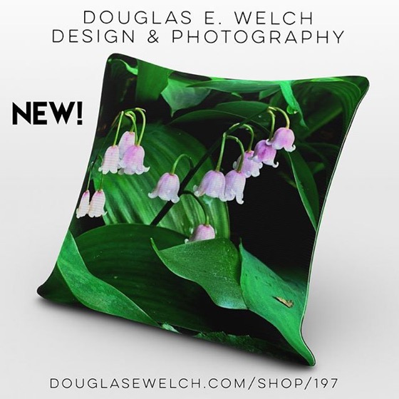 New Products - Bring The Garden Indoors With These Lily of the Valley on Pillows Mugs, Phone Cases, Totes, Notebooks and More!