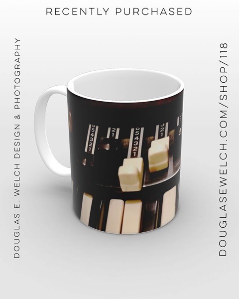 Hammond B3 Mug - Recently Purchased from Douglas E. Welch Photography and Design [For Sale]