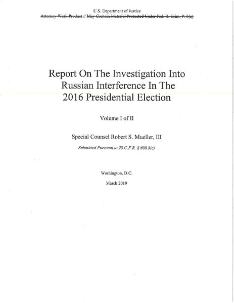Page1 463px Report On The Investigation Into Russian Interference In The 2016 Presidential Election pdf