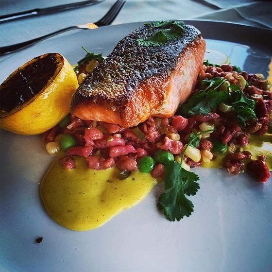 Wild Alaskan King Salmon at Bistro 60