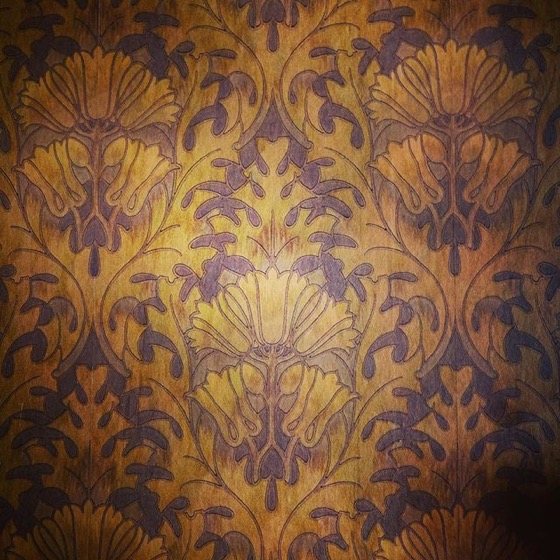 Embossed, Victorian-era Wallpaper, Byers-Evans House, Denver, Colorado via Instagram