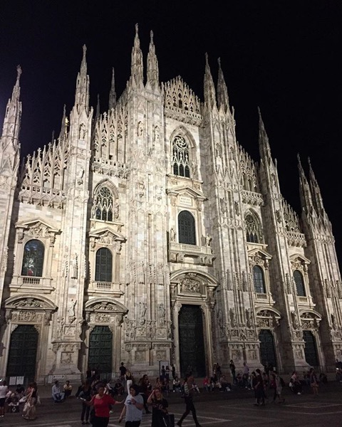 Piazza Duomo At Night, Milano, Italia via Instagram