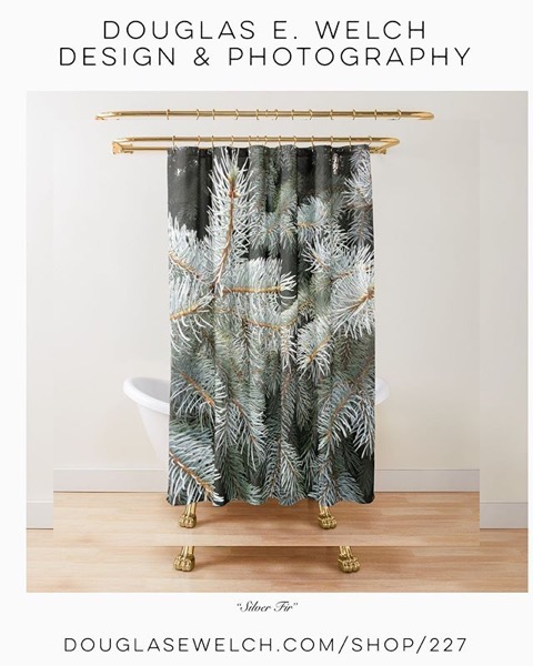 Get Ready For Your Winter Decor With These Silver Fir Shower Curtains and More From Douglas E. Welch Design and Photography [For Sale]
