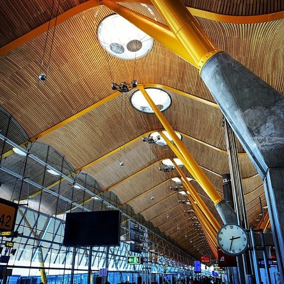 More Madrid Airport Architecture via Instagram