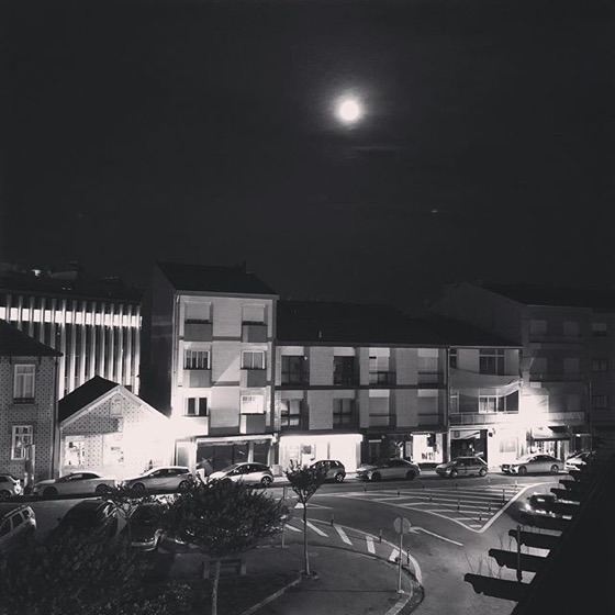 Full Moon Over Foz via Instagram