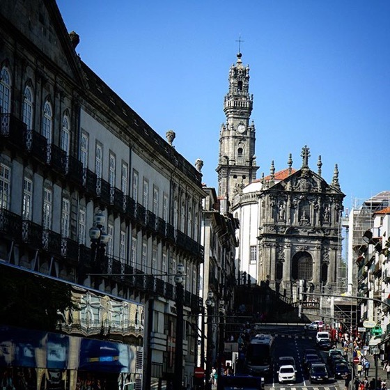 Igreja do Clérigos and Tower, Porto, Portugal via Instagram