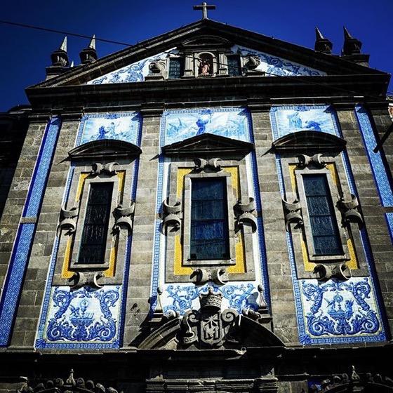 Tile Facade at Porto, Portugal Train Station via Instagram